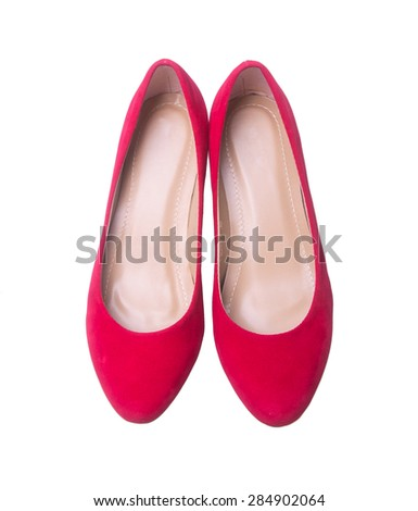 shoe. red and fashion woman shoes on a background - stock photo