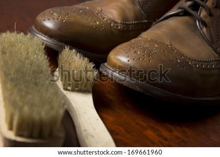Shoe repair tools footwear - stock photo