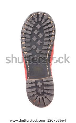 Shoe soles isolated on white background - stock photo
