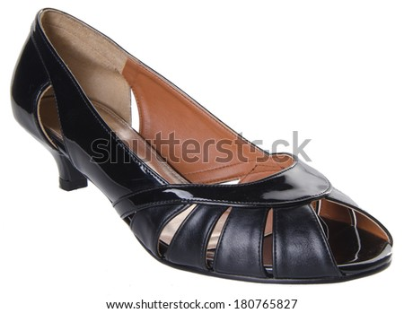 shoe. woman shoe on background