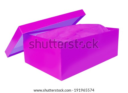 shoebox isolated on white background with clipping path  - stock photo