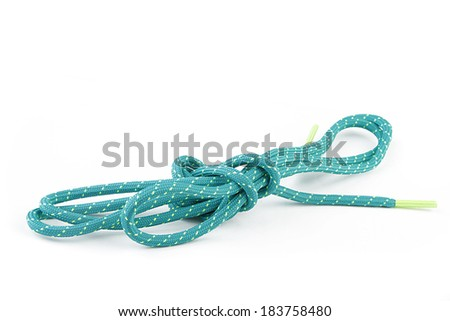 Shoelace on white background - stock photo