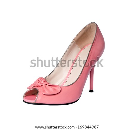 shoes isolated on a white background. red patent leather
