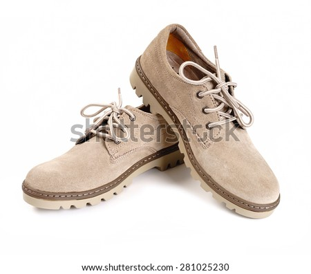 Shoes on a white background isolated - stock photo
