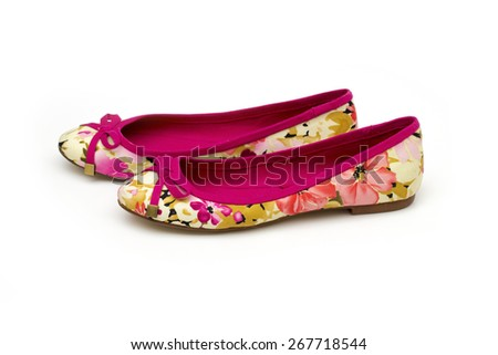shoes on the white background - stock photo