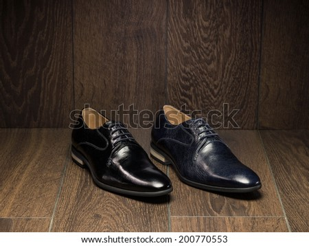 Shoes on the wood background