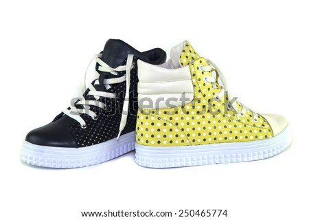 Shoes on white background - stock photo
