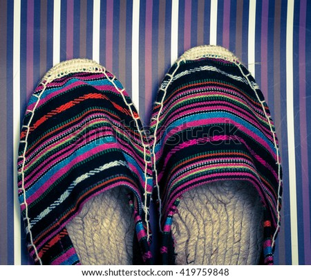 shoes - top view - stock photo