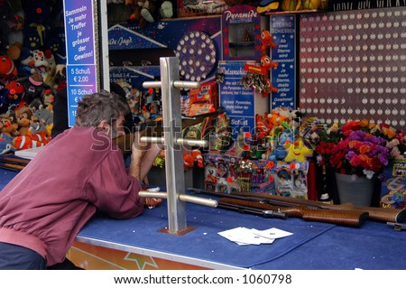 Shooting Gallery at the Fair - stock photo