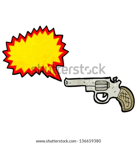 shooting gun cartoon