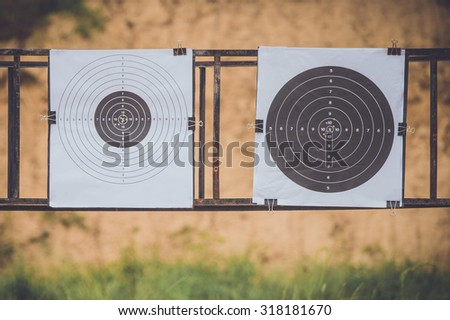 Shooting sports , female athletes ( Military) during shooting . The woman in the competition target shooting .(AARM 2015)  - stock photo