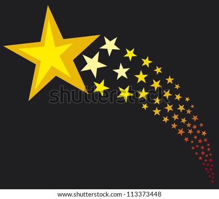 shooting stars (flying stars) - stock photo