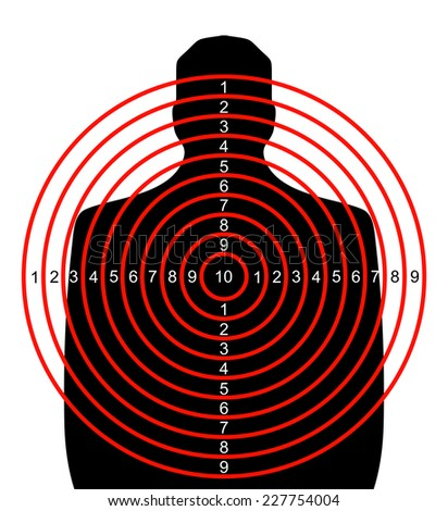 Shooting target - stock photo