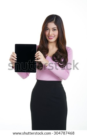 Shooting Young asian businesswoman with expression