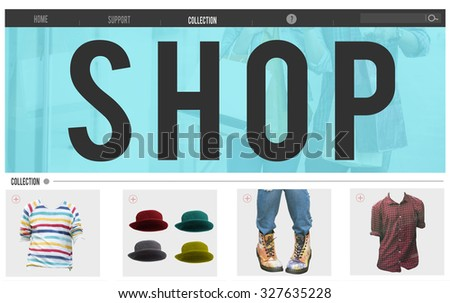 Shop Advertising Buying Product Retail Concept - stock photo