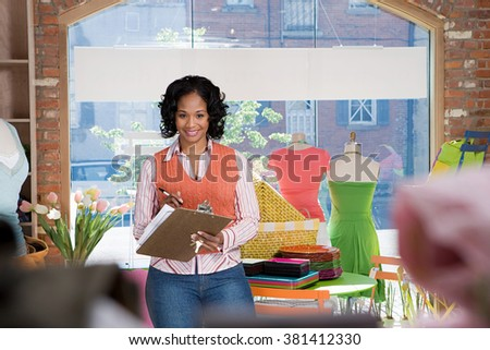Shop assistant - stock photo