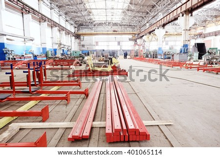 shop at the factory industry - stock photo