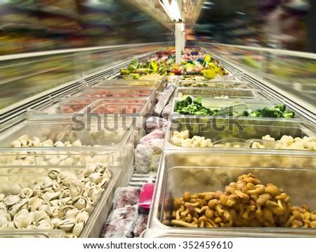 shop-freezer - stock photo