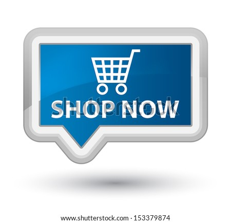 Shop now - stock photo