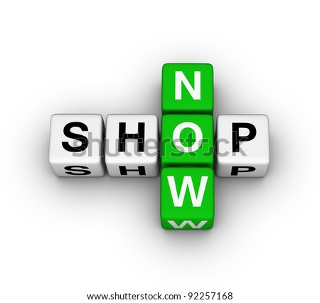 shop now label for online store - stock photo