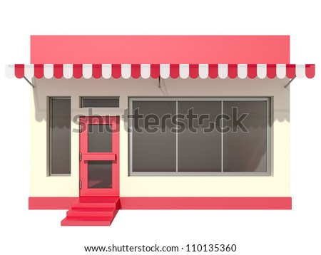 shop on a white background - stock photo