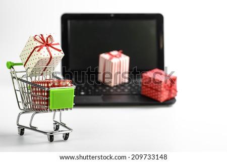 Shop online - stock photo