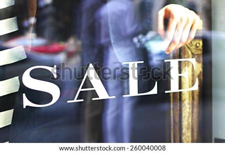 Shop window - stock photo