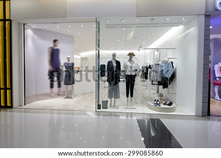 shopfront display window  - stock photo