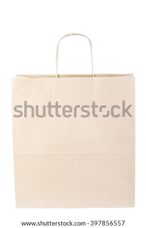 Shopping bag, isolated