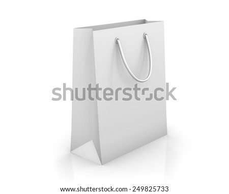 shopping bag isolated on white