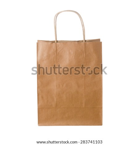 shopping bag isolated on white background