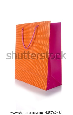 Shopping bag isolated on white background - stock photo