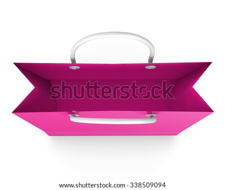 shopping bag isolated on white background, illustration.