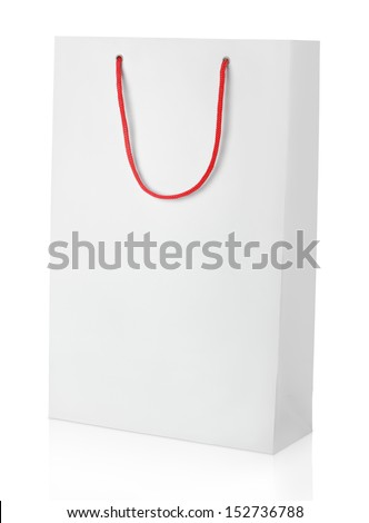 Shopping bag isolated on white with clipping path - stock photo