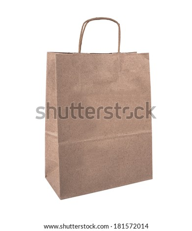 Shopping bag: Isolated on white with clipping path. High resolution