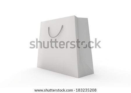 shopping bag isolated or cut out on a plain background
