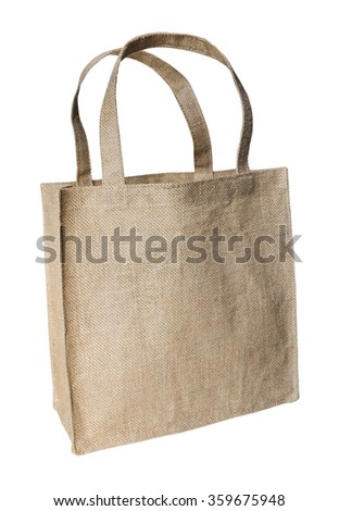 Shopping bag made out of sack with clipping path