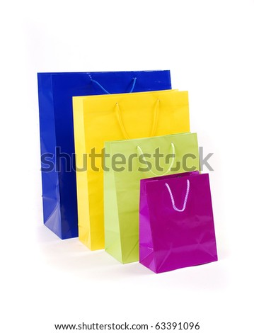 shopping bag on isolated white background