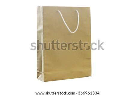 Shopping bags isolated on the white background. This has clipping path