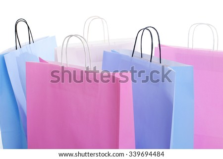 Shopping bags on a white background - stock photo