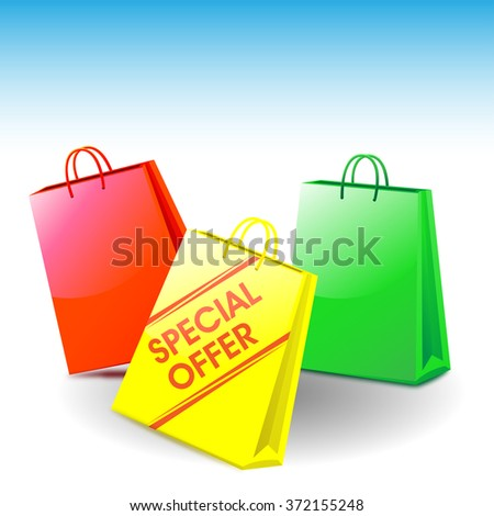 shopping bags - special offer - stock photo