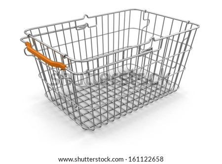 Shopping Basket (clipping path included) - stock photo