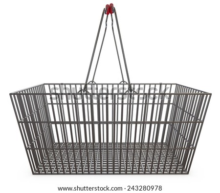 Shopping basket, empty, supermarket promotions - stock photo
