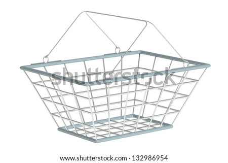 shopping basket on a white background