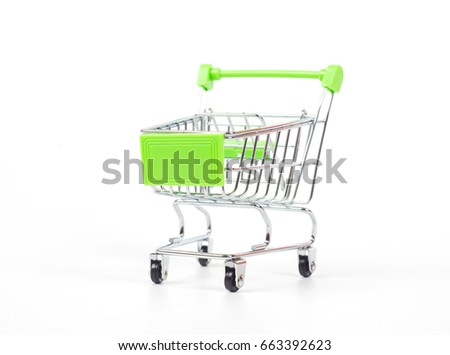 Shopping car on white background