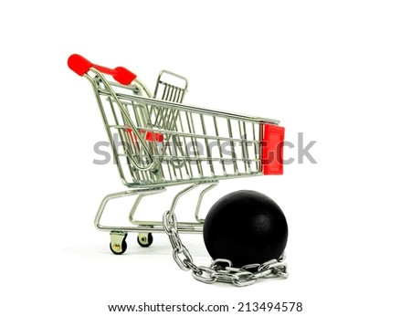 Shopping Cart and Chain Ball