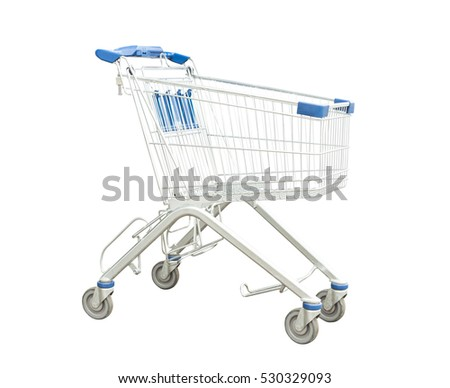 shopping cart basket isolated on white background