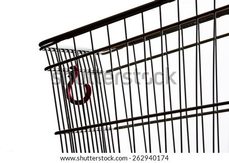 Shopping cart, close up - stock photo