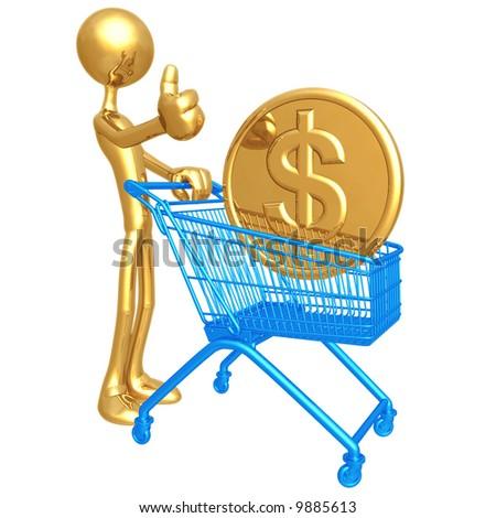 Shopping Cart Dollar - stock photo