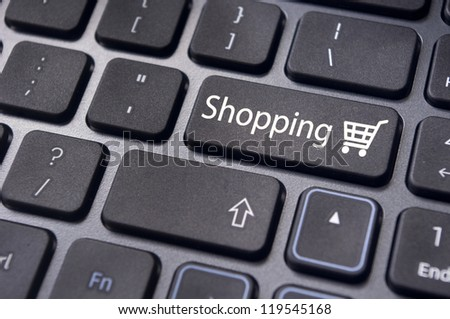shopping cart for online shopping concepts.